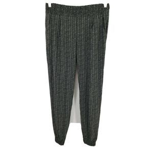 Athleta Pants Aliso Tropical Green Black Joggers